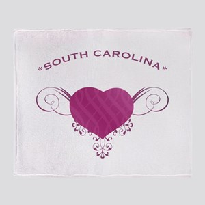 South Carolina State (Heart) Gifts Throw Blanket