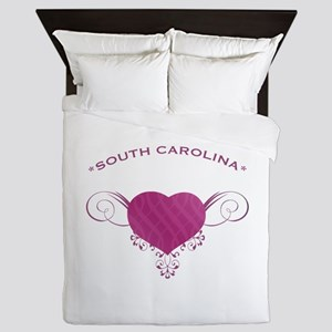 South Carolina State (Heart) Gifts Queen Duvet