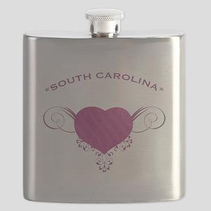 South Carolina State (Heart) Gifts Flask