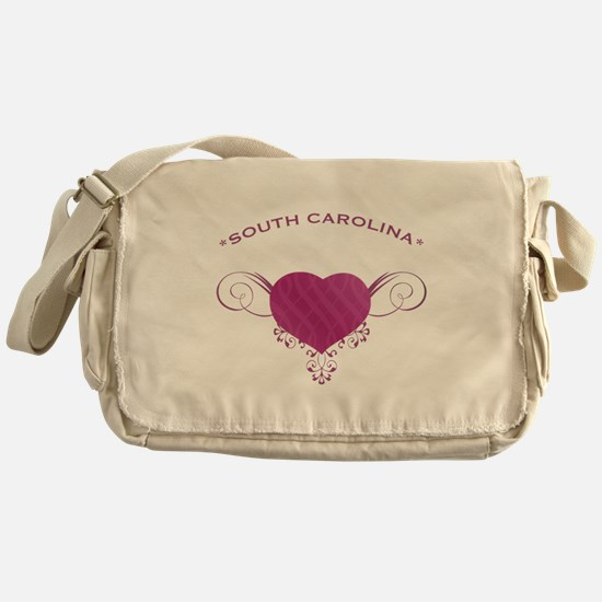 South Carolina State (Heart) Gifts Messenger Bag