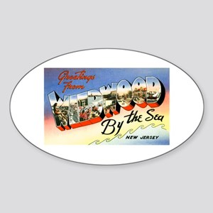Wildwood New Jersey Greetings Oval Sticker