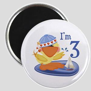 Duckie Boy 3rd Birthday Magnet