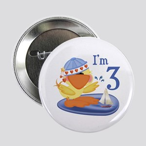 Duckie Boy 3rd Birthday Button