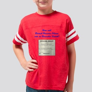 obamaballot Youth Football Shirt