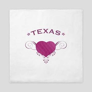 Texas State (Heart) Gifts Queen Duvet