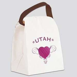 Utah State (Heart) Gifts Canvas Lunch Bag