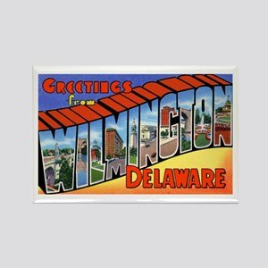 Wilmington Delaware Greetings Rectangle Magnet