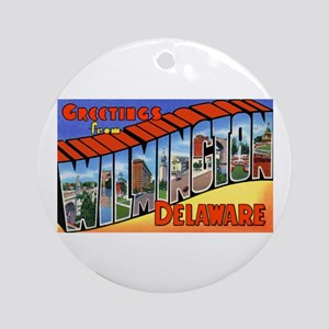 Wilmington Delaware Greetings Ornament (Round)