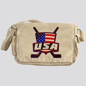 American Hockey Shield Logo Messenger Bag