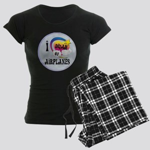 I Dream of Airplanes Women's Dark Pajamas