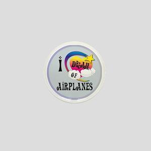 I Dream of Airplanes Mini Button