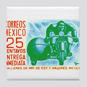 1954 Mexico Motorcycle Messenger Postage Stamp Til