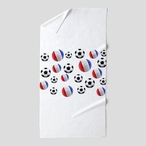France Soccer Balls Beach Towel