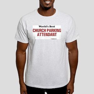 World's Best Church Parking A Ash Grey T-Shirt