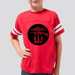 Combined Operations Red Round Youth Football Shirt