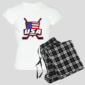 American Hockey Shield Logo Pajamas
