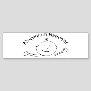 meconiumOvalrevised Bumper Sticker