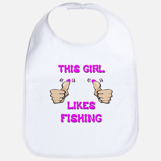 This Girl Likes Fishing Bib