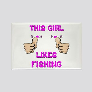 This Girl Likes Fishing Rectangle Magnet