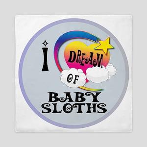 I Dream of Baby Sloths Queen Duvet