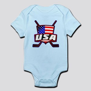 American Hockey Shield Logo Body Suit