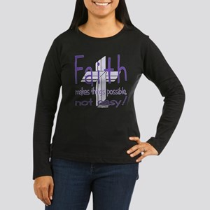 Faith Women's Long Sleeve Dark T-Shirt