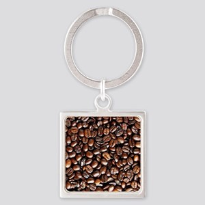 Multiple Coffee Beans  Square Keychain