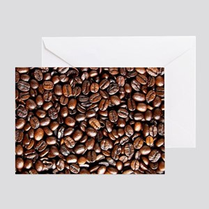 Multiple Coffee Beans  Greeting Card