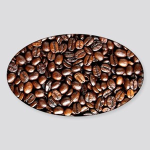 Multiple Coffee Beans  Sticker (Oval)