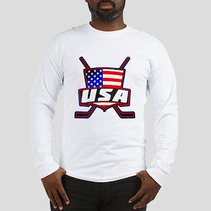 American Hockey Shield Logo Long Sleeve T-Shirt