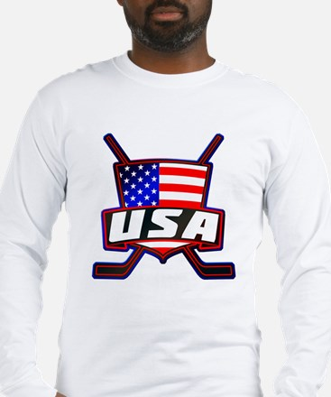 American Hockey Shield Logo Long Sleeve T-Shirt