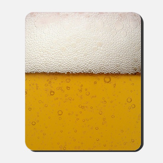 Close-Up Beer Bubbles Mousepad