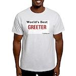 World's Best Greeter Ash Grey T-Shirt