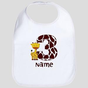 3rd Birthday Giraffe Bib
