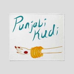Punjabi Kudi Throw Blanket