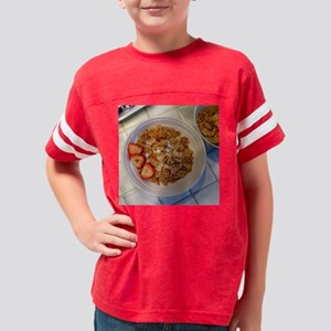 Breakfast Bowl 11x11 Youth Football Shirt