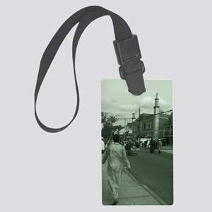 eid in queens Large Luggage Tag