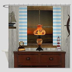 Hurricane Lamp Shower Curtain
