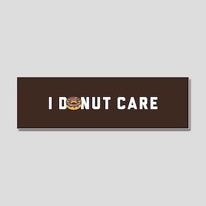 I Donut Care Emoji Car Magnet 10 x 3