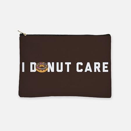 I Donut Care Emoji Makeup Pouch