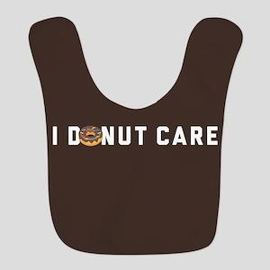 I Donut Care Emoji Polyester Baby Bib