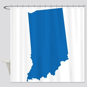 Indiana State Shape Outline Shower Curtain
