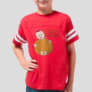 happy halloween pumpkin baby Youth Football Shirt