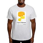 I Love Cheeses Ash Grey T-Shirt