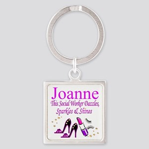 TOP SOCIAL WORKER Square Keychain