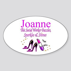 TOP SOCIAL WORKER Sticker (Oval)