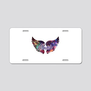 Music wings overlay 1 Aluminum License Plate