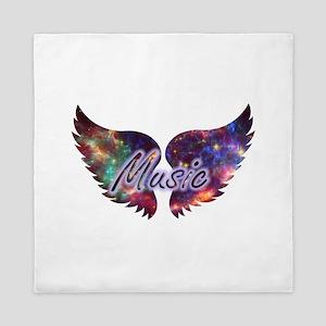 Music wings overlay 1 Queen Duvet
