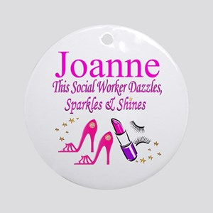 TOP SOCIAL WORKER Round Ornament