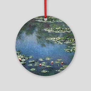 Waterlilies by Claude Monet Round Ornament